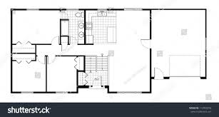 split level house floor plan stock illustration 112905742