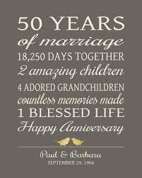 50 year wedding anniversary 50th anniversary gifts printable 50 year by printsbychristine