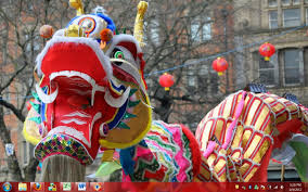 chinese dragon chinese dragon shows a striking profile while