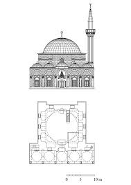 floor plan and elevation of bali pasa mosque archnet