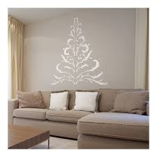 antler christmas tree wall sticker in white decorations wall stick shabby chic christmas tree wall sticker white 2