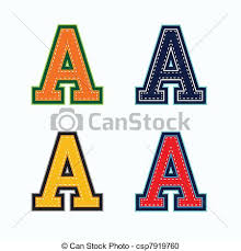 vector clipart of a college letter csp7919760 search
