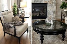 pier 1 living room ideas black round glass top and wooden base pier 1 coffee table ideas for