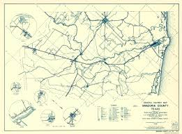 Texas Highway Map Old County Map Brazoria Texas Highway 1936