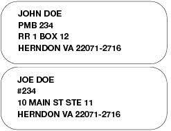 284 private mailbox addresses postal explorer
