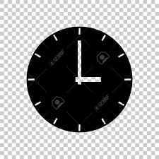 simple clock icon black icon on transparent background royalty
