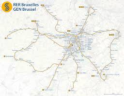 Brussels Map File Map Of The Rer Bruxelles Gen Brussels Png Wikimedia Commons