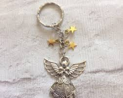 in memory of keychains angel keychain etsy