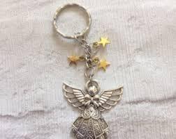 in memory of keychains angel keychain etsy