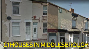 one houses inside the three houses on sale for just one pound in the same uk