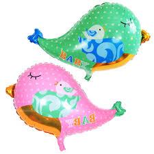 baby bird foil balloon boy unisex baby shower christening