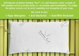 amazon com restwel bamboo pillow memory foam sleep better