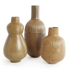Wicker Floor Vase Vertical Relief Vase Pottery Jonathan Adler