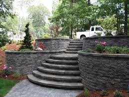 backyard retaining wall designs retaining and landscape wall