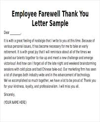 sle thank you notes to employee 8 exles in word pdf