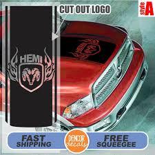 Dodge Ram Decals - fits dodge ram truck hood stripe with dodge flaming ram hemi