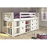 amazon com twin loft bed w desk kids bedroom furniture set