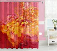 Chemistry Shower Curtains Society6 Appealing Pink And Yellow Shower Curtain Images Exterior Ideas