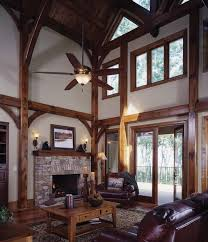 timber frame home interiors mountain lure a timber frame home