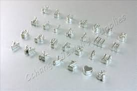 personalized charms bulk bulk silver letters 100 pcs initial letter charms shiny silver