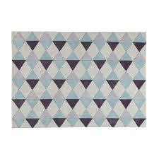 maison du tapis tapis à poils courts bleu 140 x 200 cm tapis maison du monde et