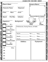 5e classic bx looking character sheet for 5e