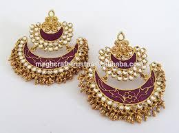punjabi jhumka earrings punjabi chandelier earrings wedding earrings wholesale