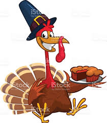thanksgiving dinner cartoon pics thanksgiving turkey chief cook serving pumpkin pie vector cartoon