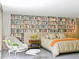 white bookcase bed original craig tevolitz bookcase wall behind bed rend hgtvcom
