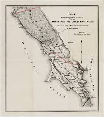 Sonoma California Map Map Showing The Route Of The North Pacific Coast Railroad Through