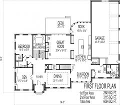 6 bedroom 2 story house plans inspired floor with bat luxury