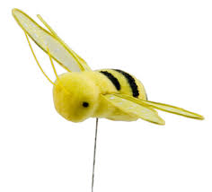 direct floral 3 inch yellow bumble bee