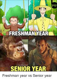 Senior Year Meme - freshman year senior year freshman year vs senior year meme on me me