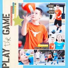 sports photo albums 22 best sports scrapbooking layouts images on