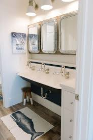 Restoration Hardware Bath Mats Cottage Bathroom With Submarine Medicine Cabinets Cottage