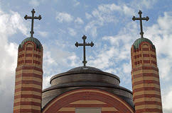church crosses crosses on church rooftop stock photos image 35487103