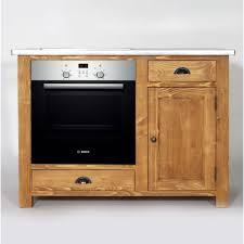 meuble four cuisine meuble de cuisine en bois pour four et plaques cagne made in