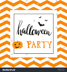 vintage halloween party invitation card template stock vector