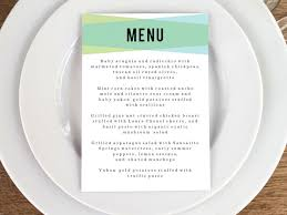 49 best printable wedding menu templates images on pinterest