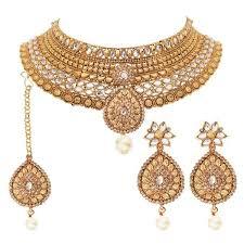 fashion jewelry necklace set images Rajwadi fashion gold plated kundan necklace set jpg