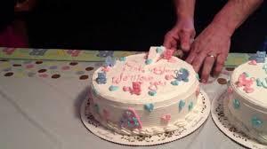 twin baby gender cake reveal baby shower cake reveal erniz
