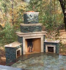 outdoor stone fireplace ideas material equipped for the outdoor