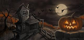 halloween background funny halloween scary castle graveyard background with a spooky haunted