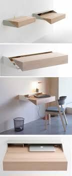 meuble bureau fermé avec tablette rabattable bureau pliable mural