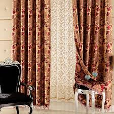 Jacquard Curtain Festival Red Leaf Jacquard Energy Saving Curtains Buy Red