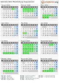 Kalender 2018 Feiertage Mv Kalender 2016 Ferien Mecklenburg Vorpommern Feiertage