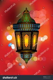 intricate arabic lamp beautiful lights background stock vector