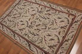 Wool Area Rugs 4x6 4 X 6 Woven Aubussion Needlepoint 100 Wool Area Rug