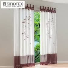Curtains 145 Cm Drop Pastoral Embroidered Sheer Window Curtain For Living Room General