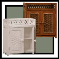 Wicker Bathroom Wall Shelves Cottage Wicker Medicine Cabinet Wall Shelf Wicker Bathroom